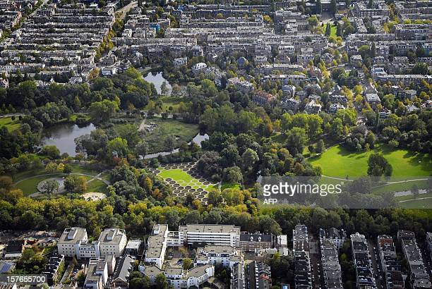 Aerial file picture taken on September 30 2008 of the Vondelpark in Amsterdam Dog owners in Amsterdam are angry after the city legalised public sex...