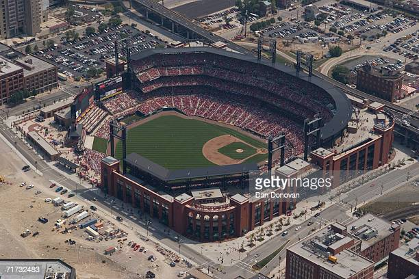 Aerial general view of the new Busch Stadium in St Louis Missouri on August 17 2006