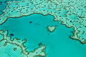Aerial heart reef whitsundays