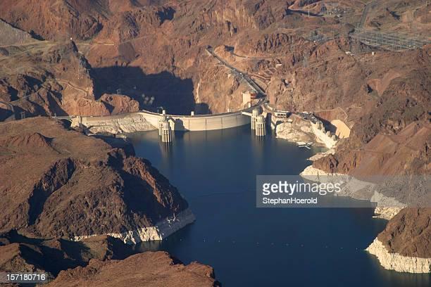Aerial: Hoover Dam