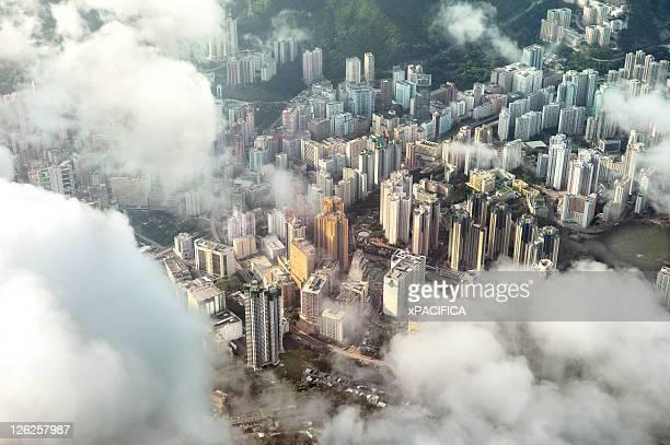 Aerial image of buildings in Hong Kong