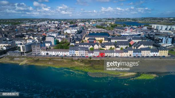 Aerial image of Galway city in Ireland