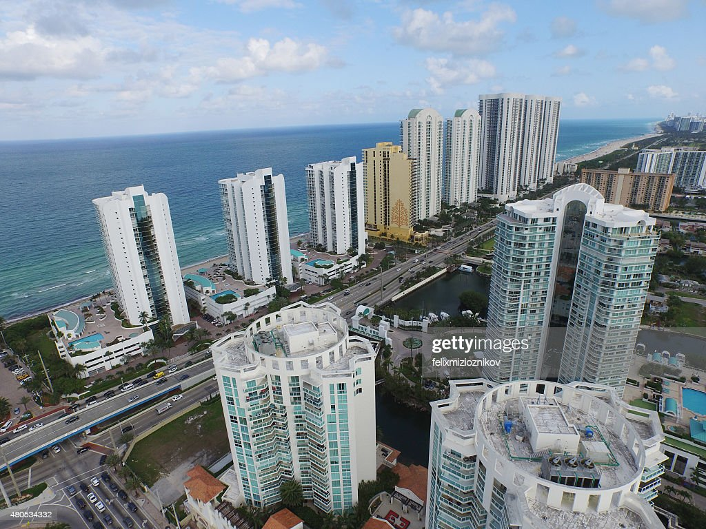 Aerial image of Sunny Isles Beach FL : Stockfoto