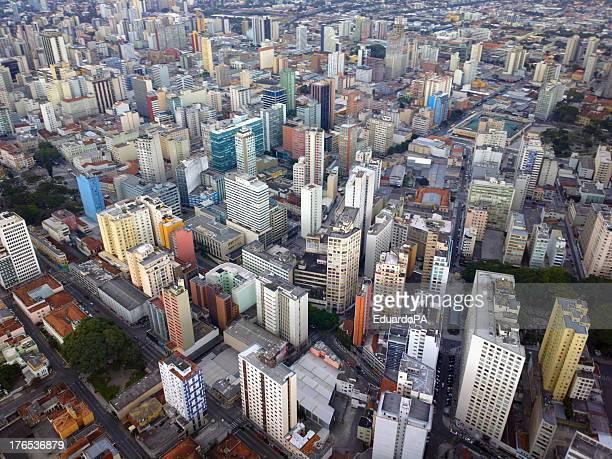 Aerial Image of the Center of Curitiba - Paraná