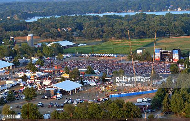 Aerial images of Country Thunder Day 2 on July 20 2012 in Twin Lakes Wisconsin