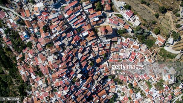 Aerial images of Kea island also known as Gia or Tzia Zea and in antiquity Keos is a Greek island in the Cyclades archipelago in the Aegean Sea Kea...