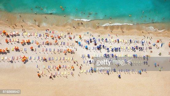 look aérea da praia de