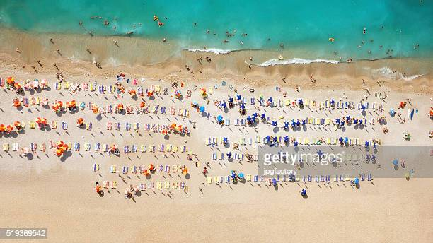aerial look of a beach