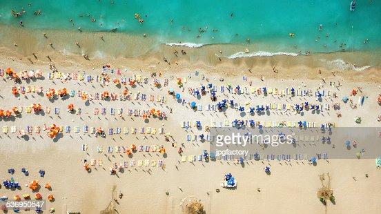 aerial look of a beach
