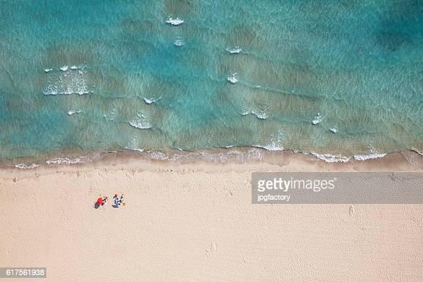 Vista aérea de una playa