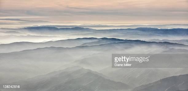 Aerial looking toward Monterey Bay, CA
