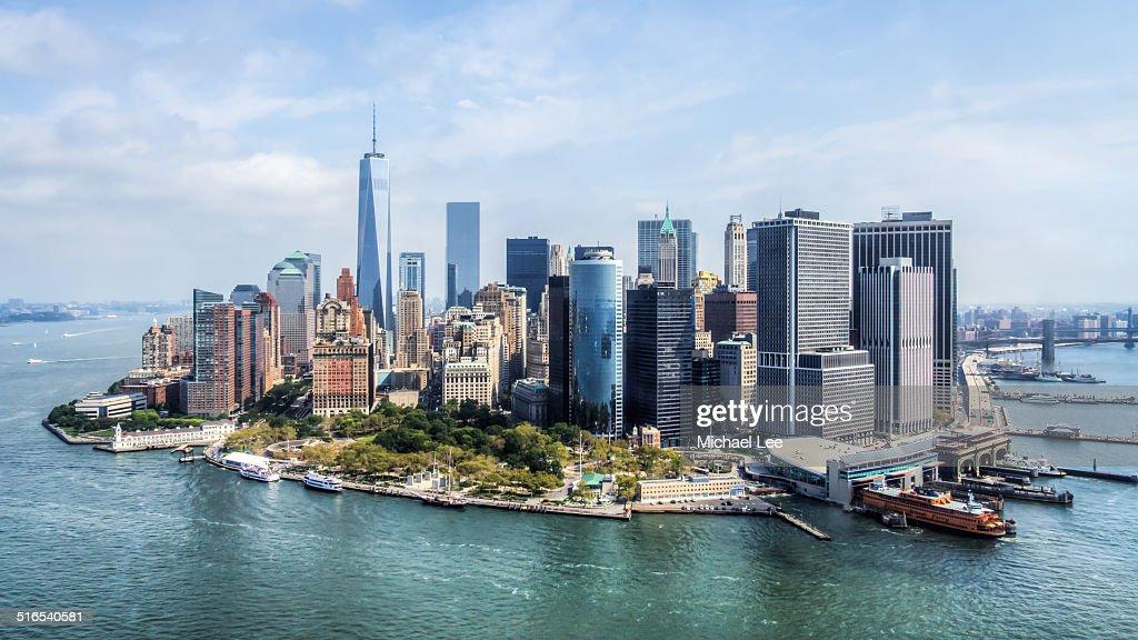 Aerial Lower Manhattan