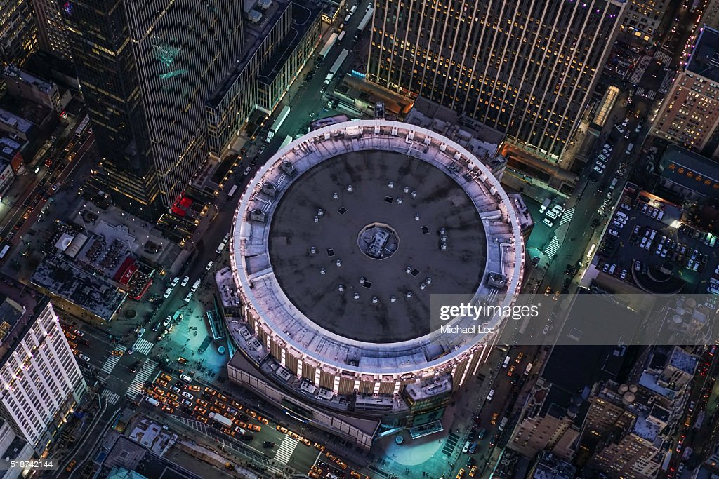 Aerial madison square garden new york stock photo getty - Where to eat near madison square garden ...
