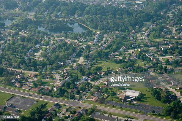Aerial Midwest Town