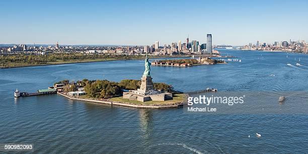 Aerial New York Harbor