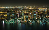 Aerial night View of Jersey City