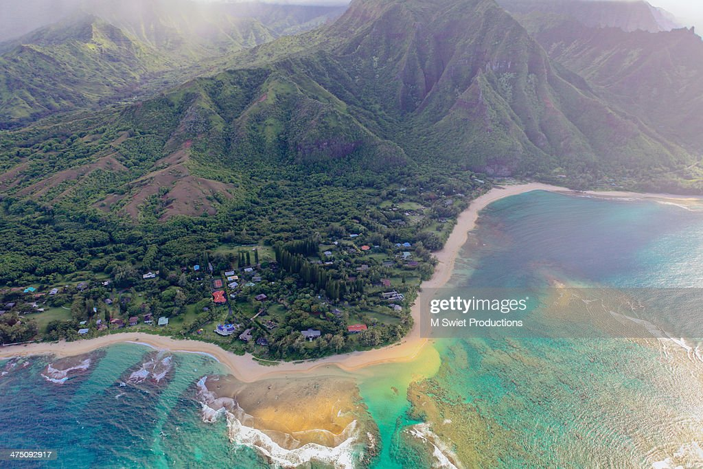 aerial nother shore kauai