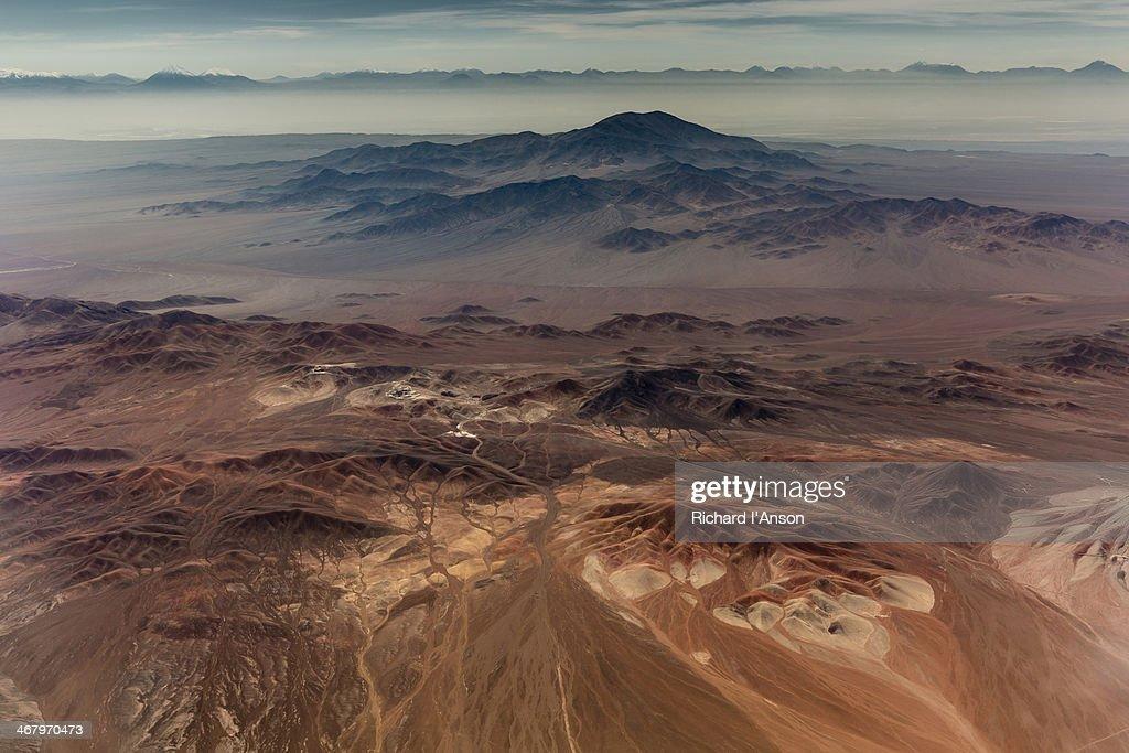 Aerial of Atacama Desert region