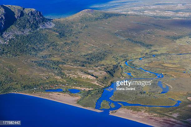 Aerial of beautiful Swedish Laponia