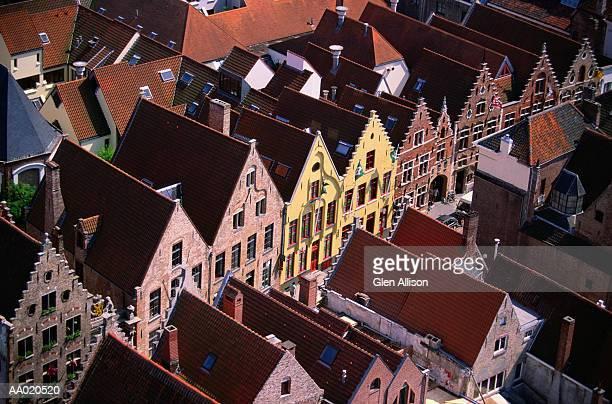 Aerial of Bruges, Belgium