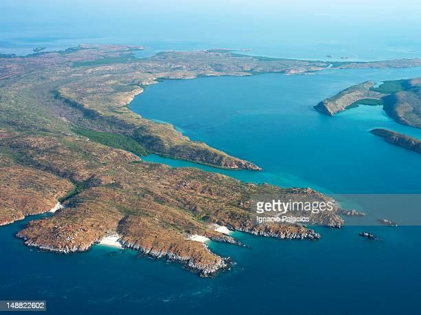 Aerial of Buccaneer archipelago.