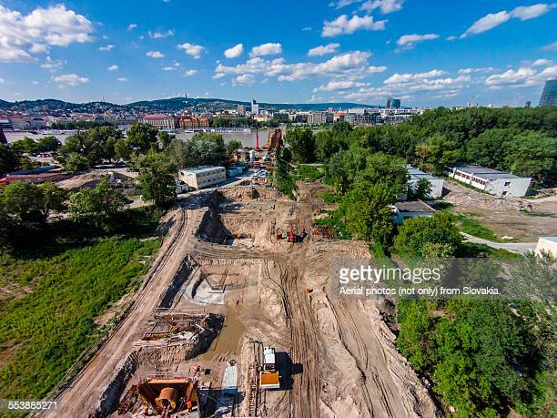Aerial of construction of Novy Most