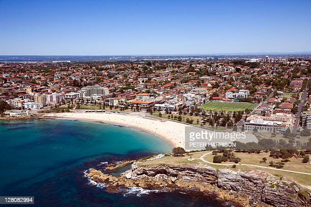 Aerial of Coogee Beach, Sydney, New South Wales, Australia