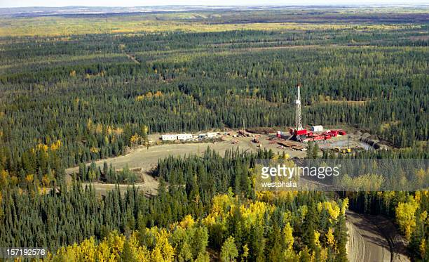 Aerial of Drilling Rig