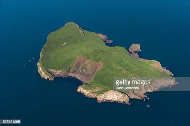 Aerial of Ellioaey, Vestmannaeyjar
