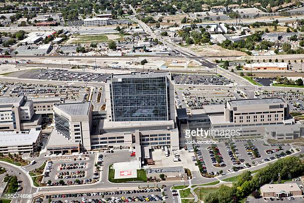 aerial of intermountain medical center Hospital in SLC Utah