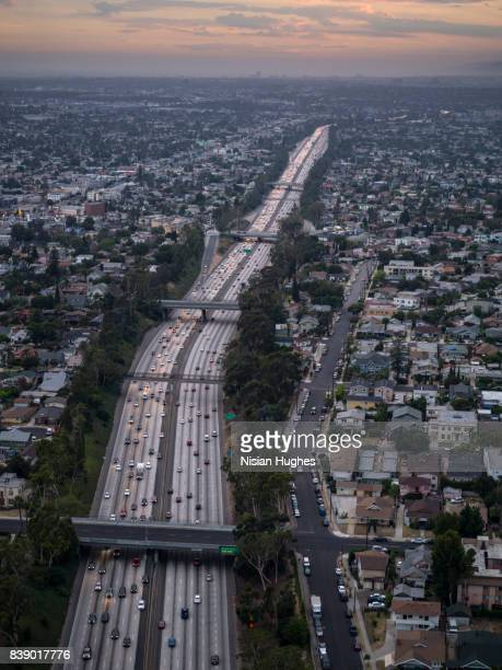 Interstate 10 stock photos and pictures getty images aerial of interstate 10 in los angeles ca sunset sciox Choice Image