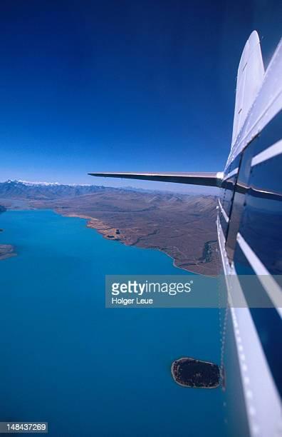 Aerial of Lake Taupo.