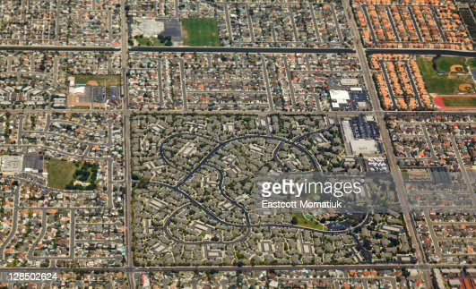 Aerial of Los Angeles, summer day : Stock Photo