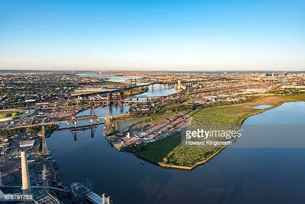 aerial of Newark waterways
