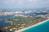 Palm beach county florida showing the beautiful white sand beaches