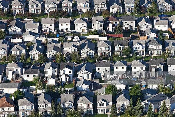 Aerial of Residential Neighbourhood and Housing Development