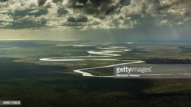 Aerial of river & floodplains in Arnhem Land