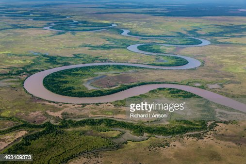 Aerial Of River Floodplains In The Top End Stock Photo ...