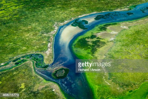 Aerial of river & floodplains in top end