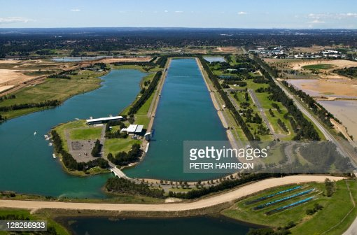 Aerial of Rowing Regatta Centre, Penrith, New South Wales, Australia