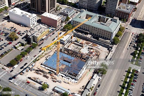 Veduta aerea di Salt Lake City, Utah nuova costruzione
