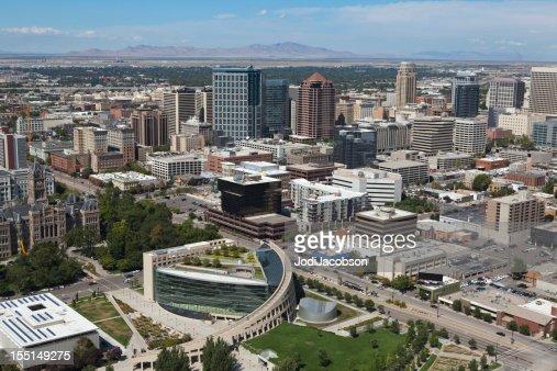 Aerial of Salt Lake City Utah