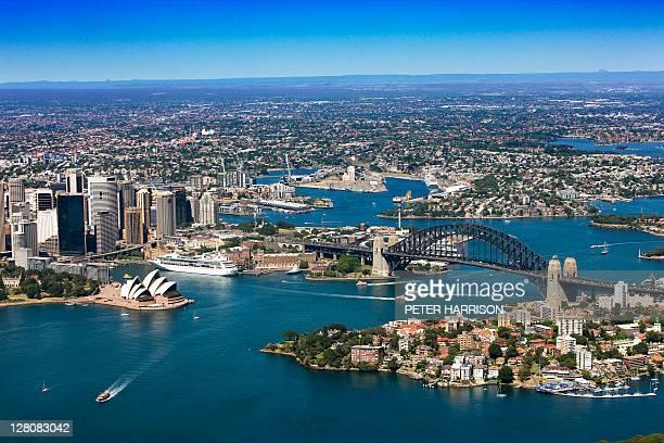 Aerial of Sydney, New South Wales, Australia