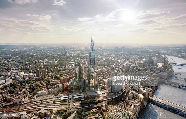 Aerial of The Shard looking west