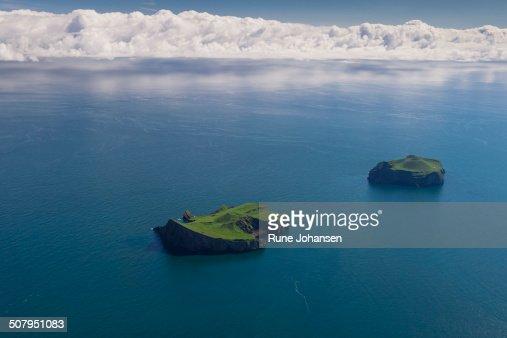 Aerial of Volcanic Islands