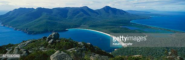Aerial of Wineglass Bay