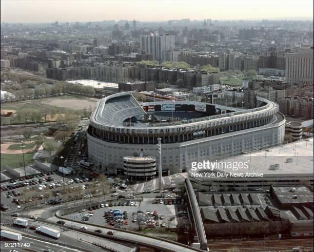Aerial of Yankee Stadium in the Bronx