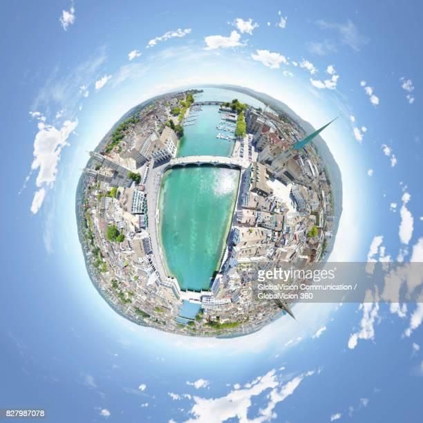 360° Aerial Panorama of Zurich's Old Town