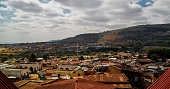 Aerial panorama view to old Harar city aka jugol, Ethiopia