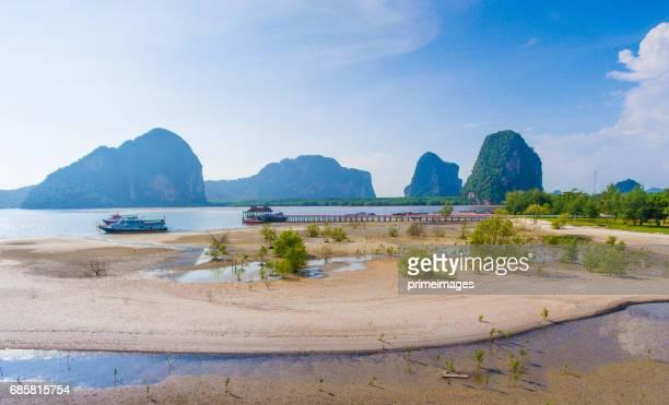 Aerial vue sur la mer et le littoral au sud de la Thaïlande